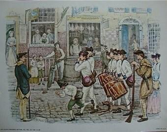Vintage 18 Centry Litho Print