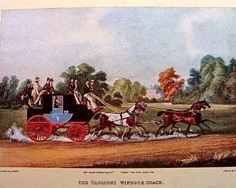 Vintage Print THE TAGLIONI WINDSOR COACH