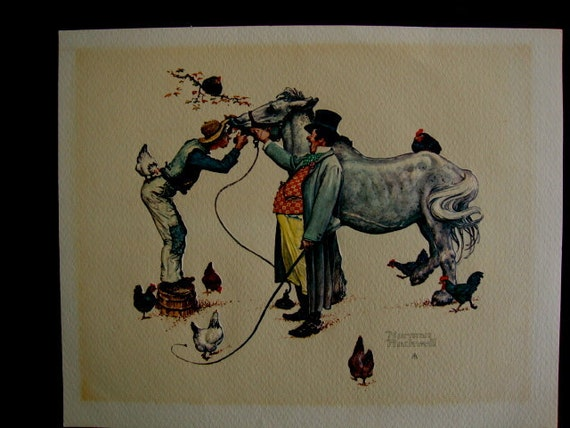 Vintage Norman Rockwell The Horse Trader Formcraft Vacuum Form 3D Print