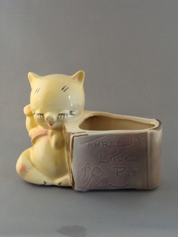 Vintage American Bisque Three Little Pigs Planter