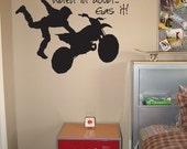 Motocross Vinyl Wall Decal - When In Doubt, Gas It - Lettering Graphic Dirt Bike