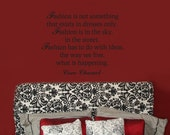 Vinyl Wall Decal - CoCo CHANEL Fashion Quote
