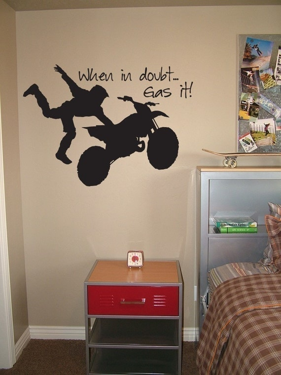 Items Similar To Motocross Vinyl Wall Decal When In