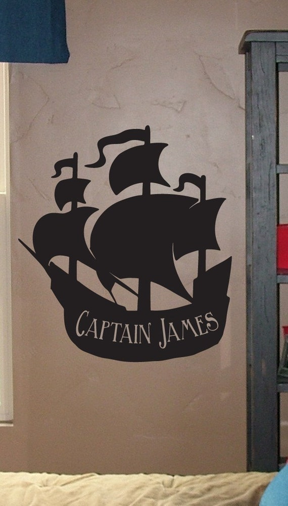 Items Similar To Large Personalized Pirate Ship Vinyl