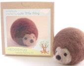 needle felting kit - craft kit- DIY hedgehog