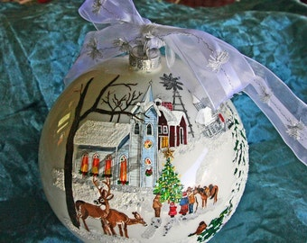 Hand painted Church ornament item 1