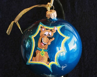 HAND PAINTED ORNAMENT - Scooby Doo Head - Item 55
