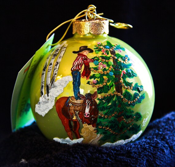 Christmas Tree Ornaments Horse: Hand Painted Ornament-Boy. HorseChristmas Tree-Item 344