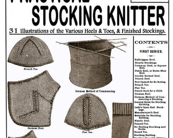 Weldon's 2D (11) c.1885 - Practical Stocking Knitter, Victorian Era Sock Pattern Book