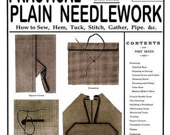 Weldon's 2D (98) c.1893 - Practical Plain Needlework - Hand Sewing Techniques, First Book