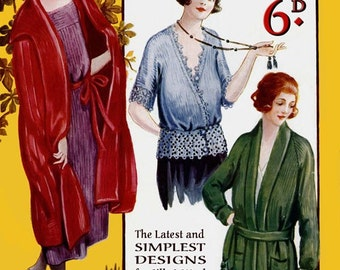 Leach's 6D (23) c.1920 Vintage Coats & Wraps in Knitting and Crochet