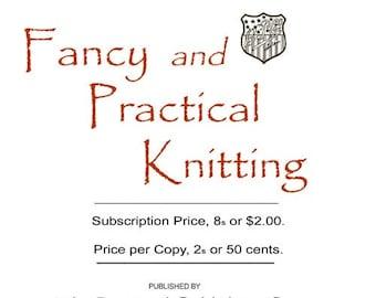 Butterick Fancy and Practical Knitting Book c.1902 Fabulous Edwardian Era Knitting Patterns