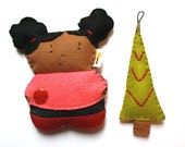 Camille Mini Doll with Tree Ornament Gift Set