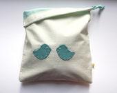 Spring Blue Bird / Earth Friendly Drawstring Bag