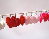 Heart Ornaments / Wool Felt Valentine's Decorations