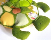 Plush Mommy Turtle / Woodland Nursery Keepsake Toys / Mama Jewels