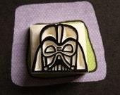 Hand Carved Darth Vader Mask Stamp -Outline-