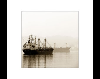 Boats in the Mist 8X8 Custom Print