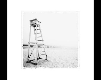 Foggy Beach 8X8 Fine Art Print