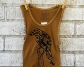Raven on a Post Children or Toddlers Tank Top Dyed Rust or Custom Colors