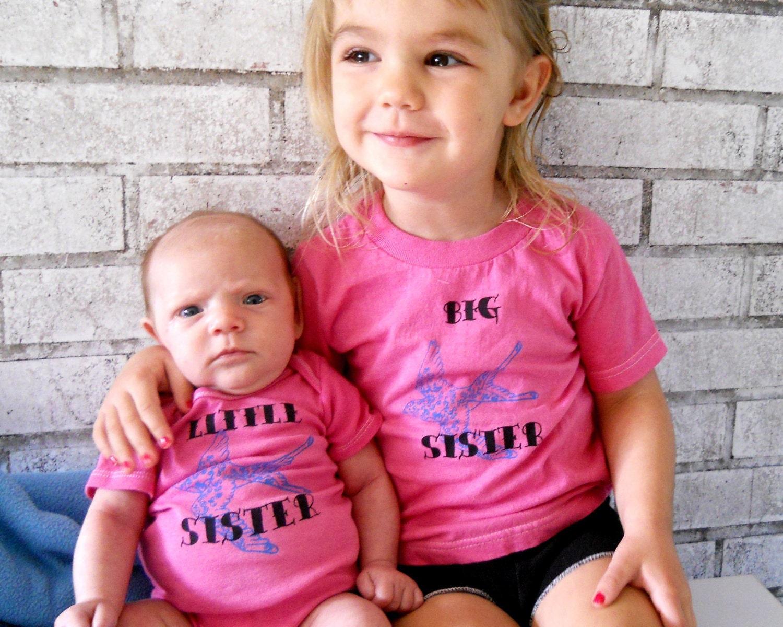 Tattoo swallow sisters tshirt set pretty bird big sister for Big sister and little sister tattoos