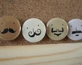 Stache Pin Set