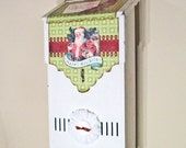 Letters to Santa Christmas vintage mailbox-mixed media-Victorian Chic-Salvaged-shabby--SO CUTE---