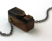 CIJ Christmas in July Free Shipping Wooden Letterpress Exclamation Point Necklace