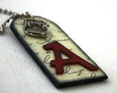 A is for Author Personality Tag Necklace