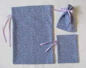 Lavendar Calico Gift Bags set of 3