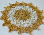 Gold and White Doily