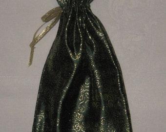 Green and Gold Brocade Gift Bag