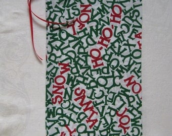 Christmas Words Gift Bag