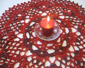 Red Romance Doily