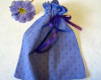 Lavender Upcycled Blouse Gift Bag Small