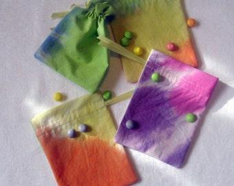 Rainbow Mini Tie-dye Gift Bags set of 4