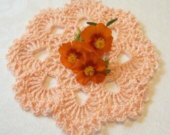 Peachy Pink Doily
