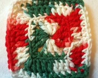 Set of 6 Crochet Granny Square Coasters