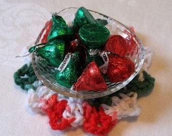 Set of 4 Crocheted Snowflake Coasters