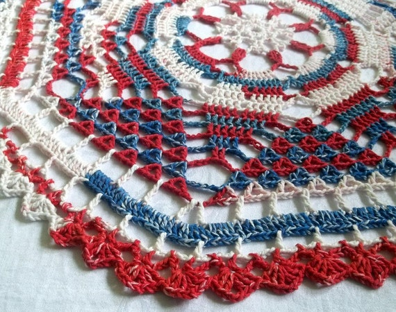 Stars and Stripes Doily/Table cloth