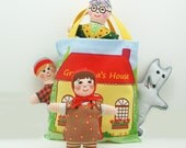 Doll Kit Fabric Panel Little Red Riding Hood