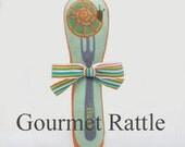 Baby Rattle Teething Toy Escargot Snail