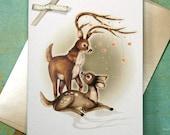 Love Deer Card