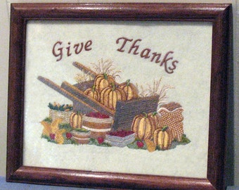 Machine Embroidered Harvest Picture