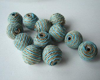 paper bead balls -  12