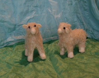 Stuffed Lamb, felt lamb, Stuffed sheep, sheep plush, soft sculpture