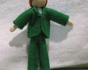 Miniature Boy doll, Waldorf doll, small boy doll, waldorf doll