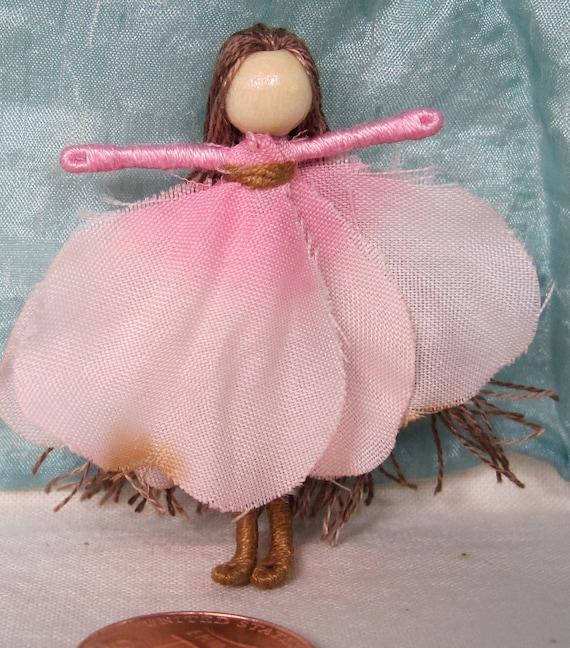 Dogwood Mini flower fairy - Art Doll, Worry Doll, Faery, elemental