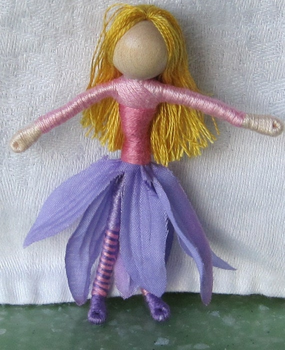 Flower Fairy Doll - Violet Daisy Flower Fairy