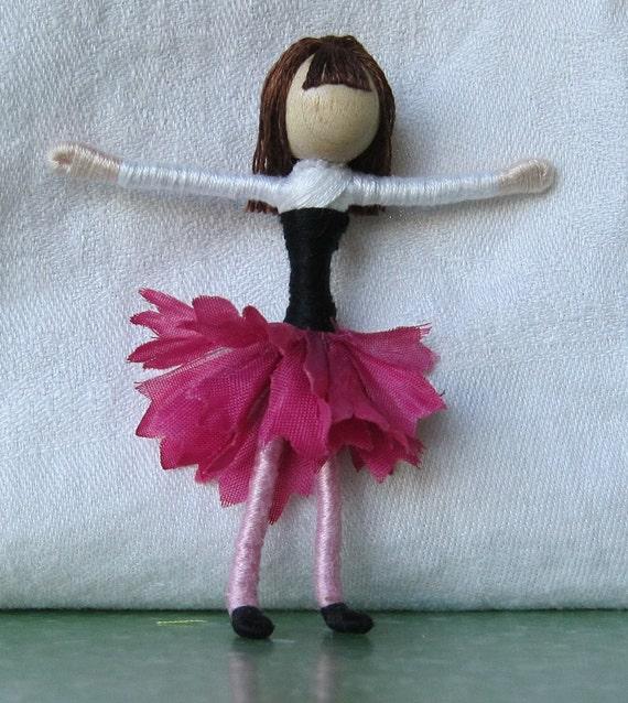 Hot Pink Batchelor's Button  Waldorf Flower Fairy